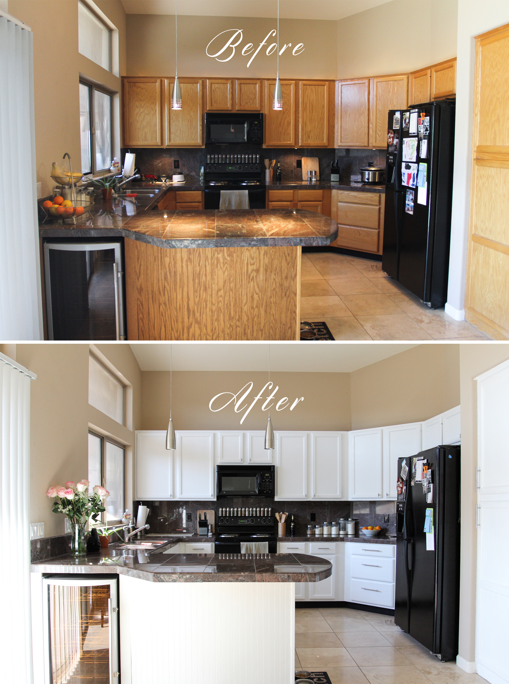 Kitchen cabinet remodel for Cabinets before and after